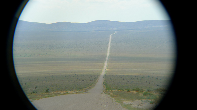 Groom Rd. leading to Area 51 (Groom dry lake)