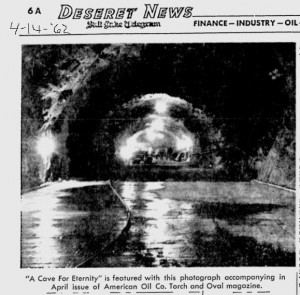 Mormon Cave Photo The Deseret News 4-1-1962